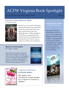 ACFW VA Book Spotlight April 2015