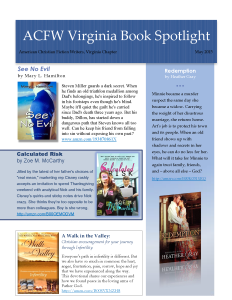 ACFW Virginia Book Spotlight May 2015
