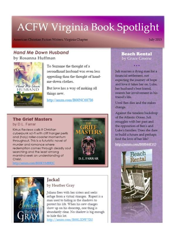 2015 July Book Spotlight
